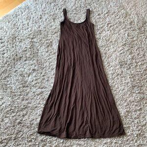 COSABELLA Brown Jersey Knit Maxi Dress